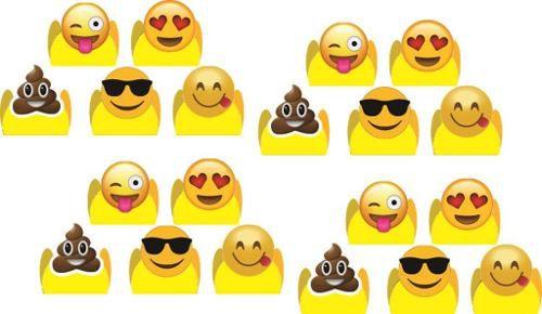 Kit Festa Infantil Emoji (modelo 2) 160 Peças (20 pessoas)