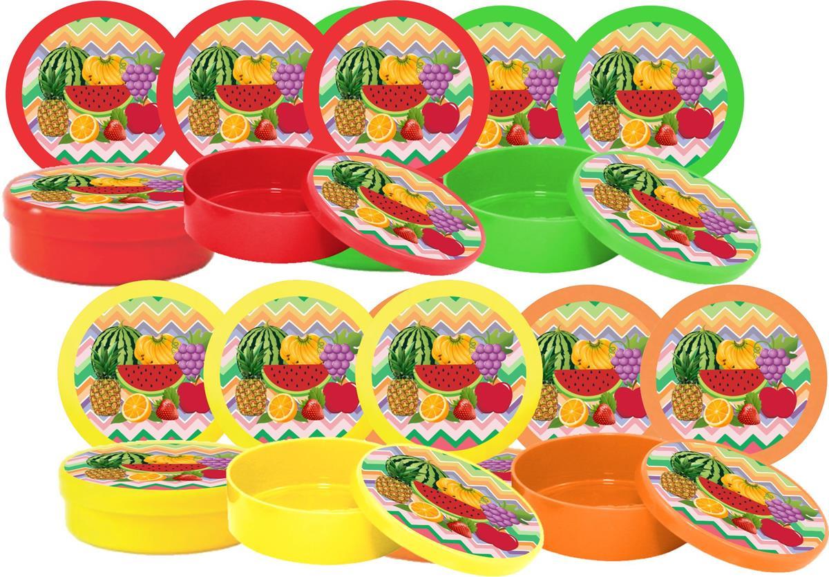 10 latinhas Salada De Frutas
