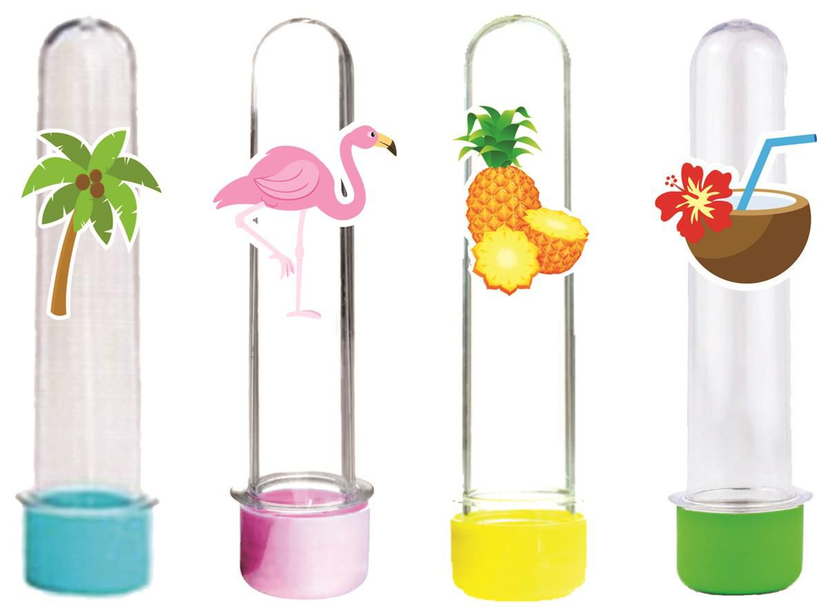 10 tubetes festa tropical flamingo