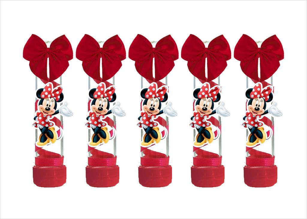 10 tubetes decorado Minnie vermelha