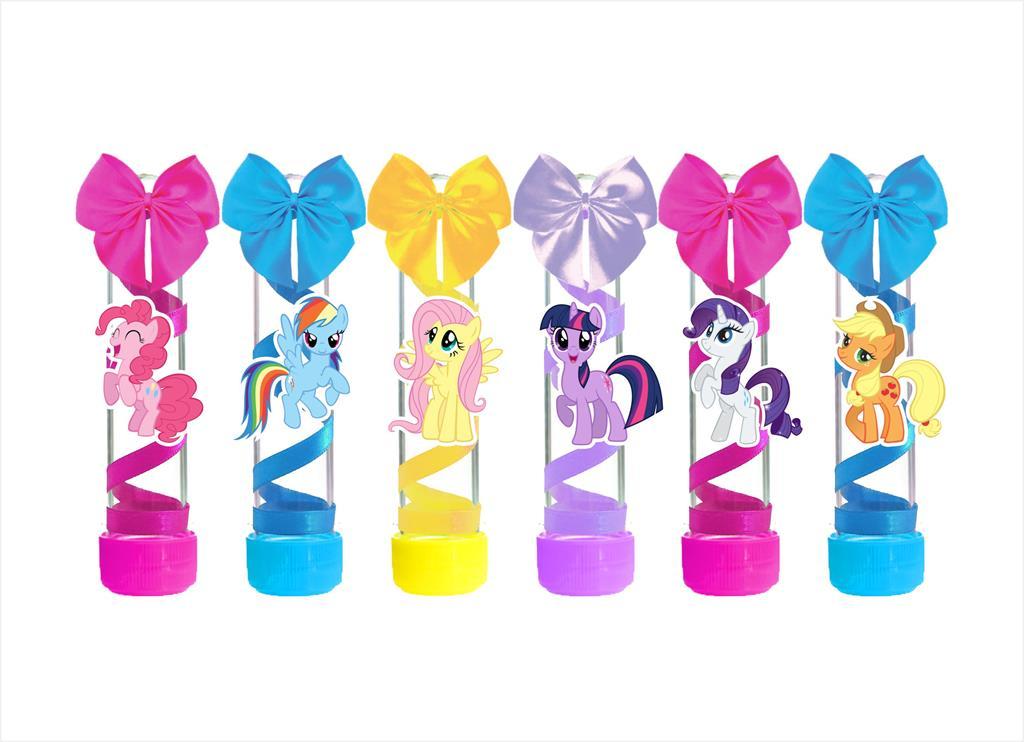 10 tubetes  decorado Little Pony