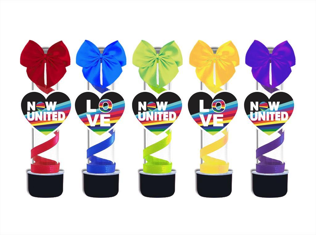 10 tubetes decorado Now United (colorido)
