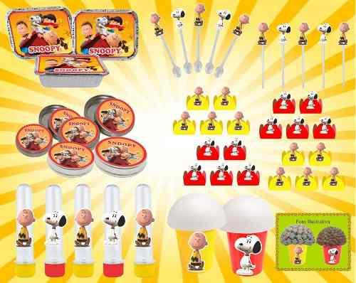 Kit festa Infantil Snoopy 292 Peças (30 pessoas)