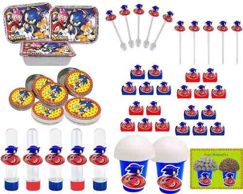 Kit Festa Infantil Sonic 292 Peças (30 pessoas)
