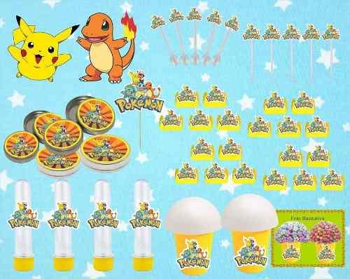 Kit Festa Pokémon (pikachu) 265 Peças (30 pessoas)