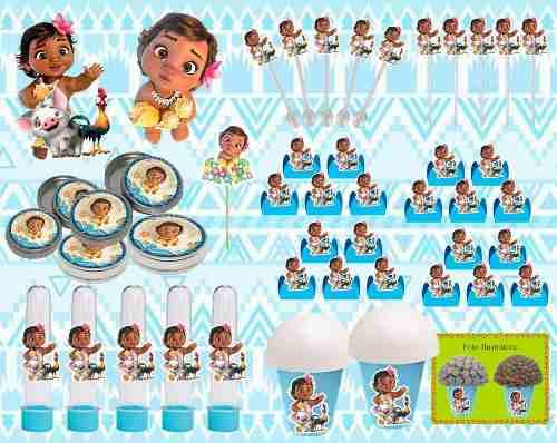 Kit Decorativo Moana Baby 143 Peças
