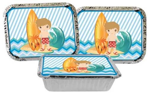 Kit Festa Infantil Surf 292 Peças (30 pessoas)