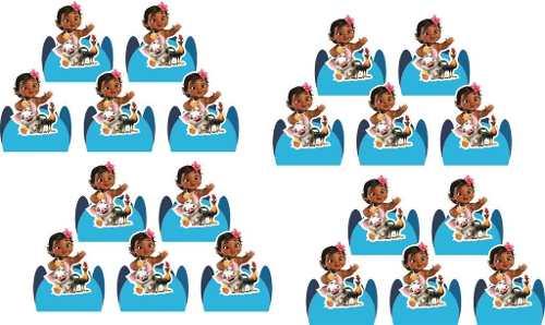 Kit Festa Infantil Moana Baby 178 Peças (20 pessoas)