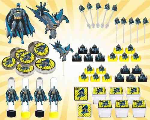Kit Festa Infantil Batman 107 Peças (10 pessoas)