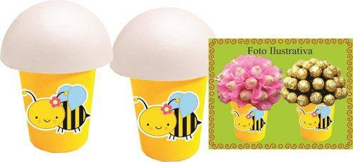 Kit Festa Abelha Menina (abelhinha) 160 Peças (20 pessoas)