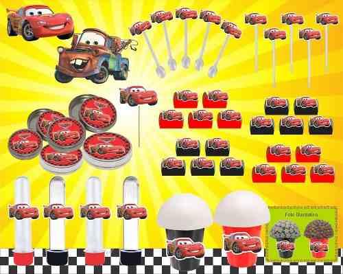 Kit Decorativo Infantil Carros 265 Peças (30 pessoas)