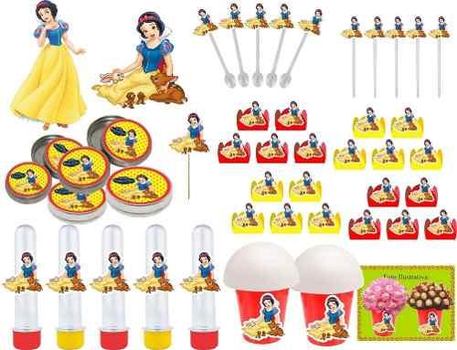 Kit Festa Infantil Branca De Neve 265 Peças (30 pessoas)