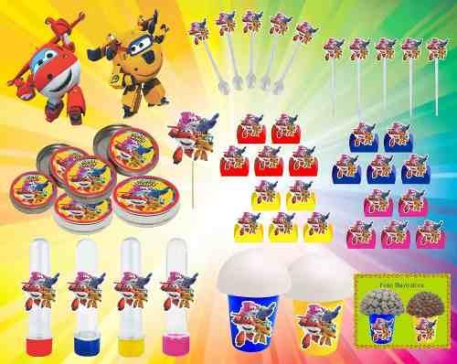 Kit festa Infantil Super Wings 265 Peças (30 pessoas)