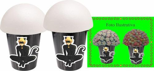 Kit Decorativo Infantil Cat Noir (chat Noir) 292 Peças