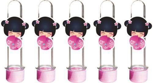 Kit Festa Boneca Kokeshi Rosa 143 Peças (20 pessoas)