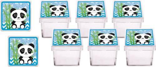 Kit Festa Infantil Panda Azul 178 Pças (20 pessoas)