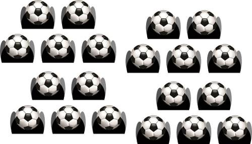 Kit Festa Infantil Futebol (preto) 178 Pças