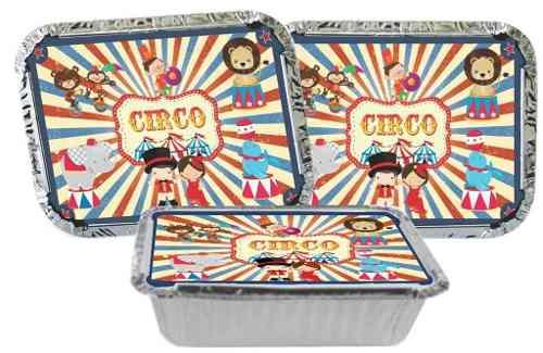 Kit Festa Infantil Circo Vintage 178 Pças (20 pessoas)