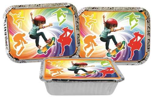 Kit Festa Infantil Skate (modelo 2) 178 Pças (20 pessoas)