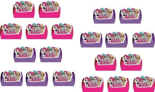 Kit Festa Lol Suprise (pink E Lilás) 143 Peças (20 pessoas)