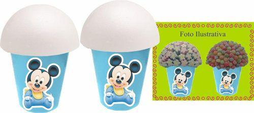 Kit festa  Infantil Mickey Baby 292 Peças (30 pessoas)