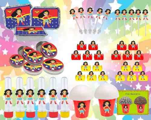 Kit Festa Mulher Maravilha Baby 292 Peças (30 pessoas)