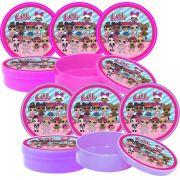 10 latinhas Lol Surprise (pink e lilás)