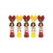 10 tubetes decorado Mulher Maravilha Baby
