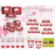 Kit Festa Chuva De Amor (vermelho) 292 Peças (30 pessoas)