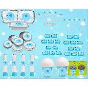 Kit Festa Infantil Elefantinho Azul 292 Peças (30 pessoas)