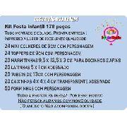 Kit Festa Infantil Unicórnio 178 Pças