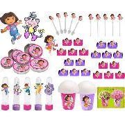Kit Festa Infantil Dora Aventureira 265 Peças (30 pessoas)