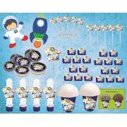 Kit Festa Infantil Astronauta 143 Peças (20 pessoas)