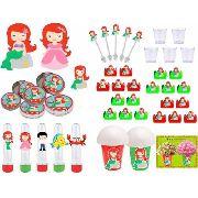 Kit Festa A Pequena Sereia Baby (cute) 155 Peças (20 pessoas)