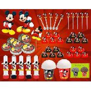 Kit Festa Infantil Mickey 99 Peças (10 pessoas)