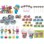 Kit Festa Pocoyo (colorido) 99 Peças (10 pessoas)