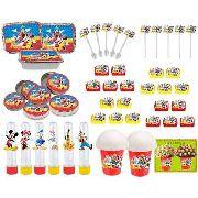 Kit Festa Infantil Mickey E Sua Turma 106 Peças (10 pessoas)
