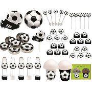 Kit Festa Futebol (preto E Branco) 99 Peças (10 pessoas)