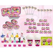 Kit Festa Infantil Princesas 160 Peças (20 pessoas)