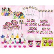 Kit Festa Infantil Princesas 265 Peças (30 pessoas)