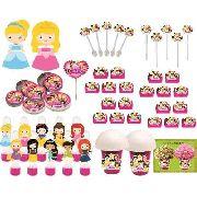 Kit Festa Princesas Baby 265 Peças (30 pessoas)