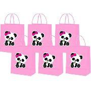 Sacolinhas Panda Menina 10 Unidades