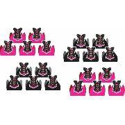 50 Forminhas E 50 Toppers Chá De Lingerie (pink E Preto)