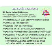 Kit Festa Infantil Os Incríveis 60 Peças