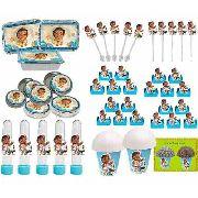 Kit Festa Infantil Moana Baby 352 Peças (50 pessoas)