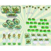 Kit festa Infantil Tartarugas Ninja 178 Peças (20 pessoas)