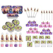 Kit Festa Infantil Enrolados (rapunzel) 114 Peças (10 pessoas)