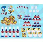Kit Festa Sonic 103 Peças (10 pessoas)
