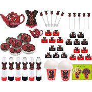 Kit Festa Chá De Lingerie (vermelho E Preto) 265 Peças (30 pessoas)