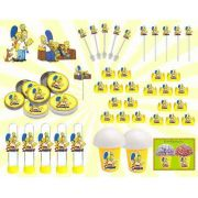 Kit Festa Infantil Os Simpsons 265 Peças (30 pessos)